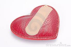 heart with band aid