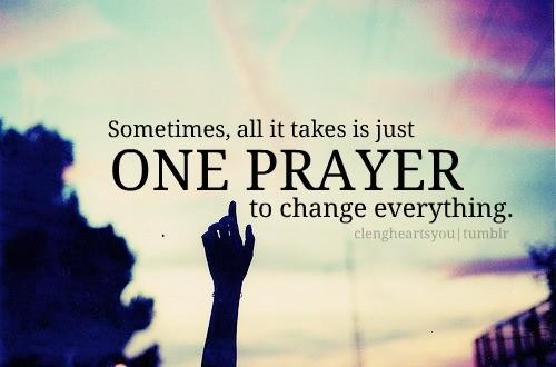 prayer change