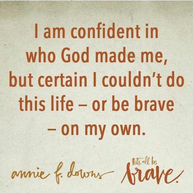 confident brave