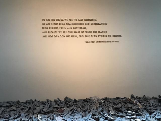 Holocaust museum shoes